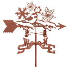 Bird and Snowflakes Weathervane | EZ Vane | ezvSnowflakes