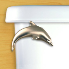 Dolphin Toilet Flush Handle | Functional Fine Art | ffa00101satinpewter