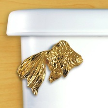 Fantail Goldfish Toilet Flush Handle | Functional Fine Art | ffa00108