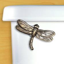 Dragonfly Toilet Flush Handle | Functional Fine Art | ffa00114satinpewter