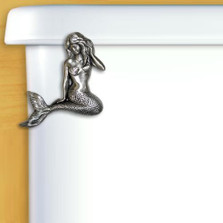 Mermaid Pewter Toilet Flush Handle | Functional Fine Art | ffa00129satinpewter