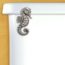 Seahorse Toilet Flush Handle | Functional Fine Art | ffa00132satinpewter