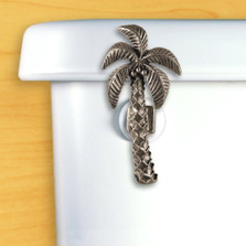 Palm Tree Toilet Flush Handle | Functional Fine Art | FFA00148