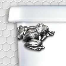 Frog Pewter Toilet Flush Handle | Functional Fine Art | ffafrogpewter