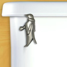 Penguin Pewter Toilet Flush Handle | Functional Fine Art | ffapenguinsatinpewter