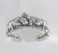 Hippo Sterling Silver Bracelet   Kabana Jewelry   Kbr171