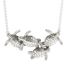 Four Sea Turtles Sterling Silver Necklace | Kabana Jewelry | KP343 -2