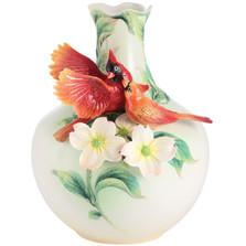 Companion Cardinal Porcelain Vase | FZ03014 | Franz Porcelain Collection