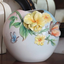 Friends for Life Jasmine and Butterfly Vase | FZ03017 | Franz Porcelain Collection -2