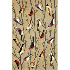 "Frontporch Birds 42"" x 66"" Indoor Outdoor Area Rug 