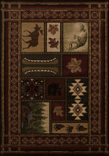 Moose Bear Cabin Chalet Area Rug | United Weavers | UW510-27559-5x7