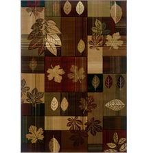 Autumn Bliss Leaves Area Rug | United Weavers | 511-25159-5x7