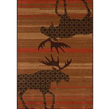 Moose Lodge Area Rug Terracotta | United Weavers | 511-27329