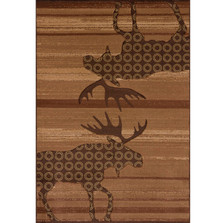 Moose Lodge Area Rug Toffee | United Weavers | 511-27359-5x7