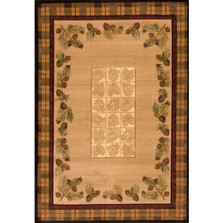 Winters Pine Toffee Pinecone Area Rug | United Weavers | 511-27659-5x7