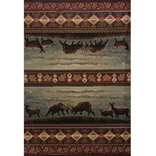 Deer Area Rug Native Landscape | United Weavers | 511-27766-5x7