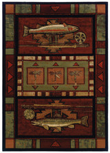 Rainbow Trout Area Rug | United Weavers | 512-25429-5x7