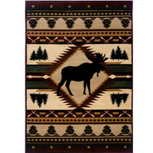 Moose Area Rug Wilderness | United Weavers | 512-25559-5x7