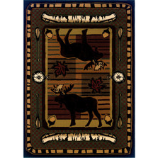 Moose Area Rug Wilderness Stream | United Weavers | 512-25729-5x7