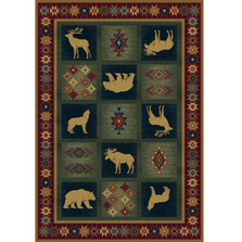 Bear and Wolf Dakota Area Rug | United Weavers | UW530-41917-3x5
