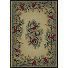 Cardinals In Pine Area Rug | United Weavers | UW532-40217