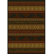 Moose and Leaves Area Rug | United Weavers | UW533-10743