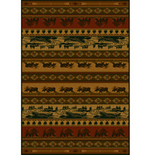 Moose and Bear Kodiak Island Area Rug | United Weavers | UW533-10843
