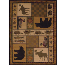 Bear Area Rug Pine Montage | United Weavers | UW750-03743