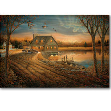 "Duck Wood Wall Art ""Angler's Inn "" 