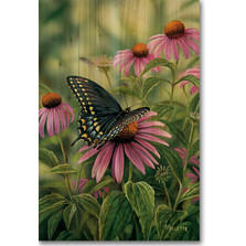 Black Swallow Tail Butterfly Wood Wall Art | Wood Graphixs | WGIBST1624
