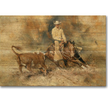 "Horse Wood Wall Art ""First Go Round"" 