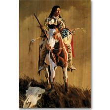 "Horse Wood Wall Art ""Ghost of the Plains"" 