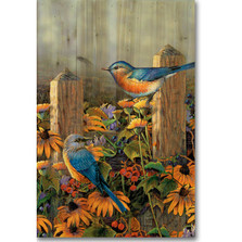 Linda's Bluebirds Wood Wall Art | Wood Graphixs | WGILBB1624