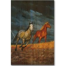 Lightning Horse Wood Wall Art | Wood Graphixs | WGILGT1624
