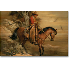 "Horse Wood Wall Art ""Long Road Home"" 