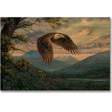 "Eagle Wood Wall Art ""Majestic Moment"" 