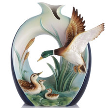 Guardian Mallard Vase | FZ03116 | Franz Porcelain Collection