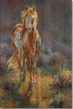 "Horse Wood Wall Art ""Purple Sage"" 