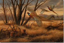 "Pheasant Wood Wall Art ""Prairie Wings"" 