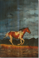 "Horse Wood Wall Art ""Storm Front"" 