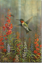 Summer Hummer Wood Wall Art | Wood Graphixs | WGISH2416