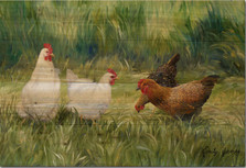 "Hens Wood Wall Art ""The Girls"" | Wood Graphixs | WGITG2416"