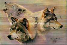Wolves are Forever Wood Wall Art | Wood Graphixs | WGIWAF2416