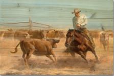"""Horse Wood Wall Art """"Working Girl""""   Wood Graphixs   WGIWG2416"""