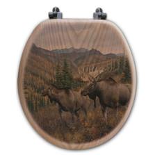 "Moose Toilet Seat ""Ridge"" | Wood Graphixs | WGIWTR-R"