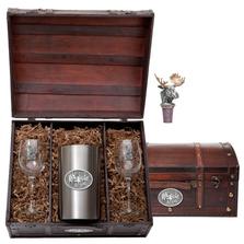 Moose Wine Chest Set | Heritage Pewter | HPIWSC103