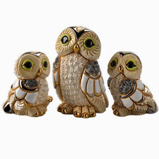 Winter Owl and Babies Figurine Set | De Rosa | Rinconada | F185-F385A-F385B