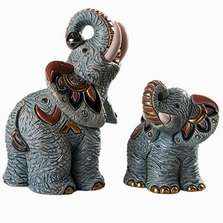 Samburu Elephant and Baby Figurine Set | De Rosa | Rinconada | F174-F374