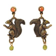Squirrel Dangle Post Earrings | La Contessa Jewelry | LCER9253