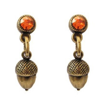 Acorn Post Drop Earrings   La Contessa Jewelry   LCER9254